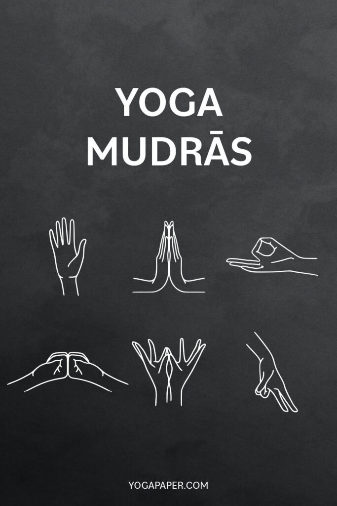 Yoga Mudras with simple illustrations